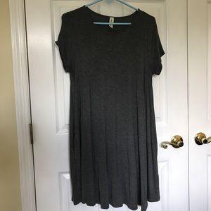 L Grey T-Shirt Dress ☑️ w pockets